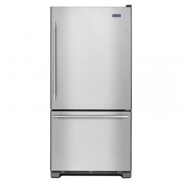 "Maytag 33"" Wide Bottom Mount Refrigerator with Humidity-Controlled Crispers - 22 cu. Feet"
