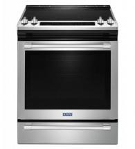 "Maytag 30"" 6.4 cu. ft. Slide-In Electric Range with True Convection in Stainless Steel"
