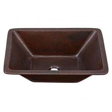 "Sinkology Hawking 20"" Dual Mount Bathroom Sink in Aged Copper"