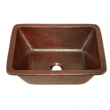 "Sinkology Hawking 17"" Dual Mount Bathroom Sink in Aged Copper"