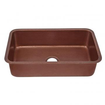 "Sinkology Orwell Undermount Handmade Solid Copper 30"" Single Bowl Kitchen Sink in Antique Copper"
