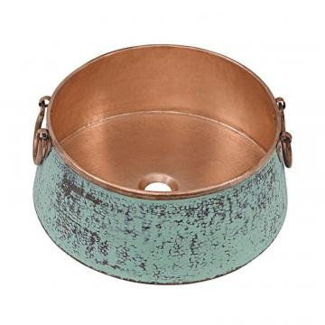 "Sinkology Noble 16"" Copper Vessel Sink in Copper Verde"
