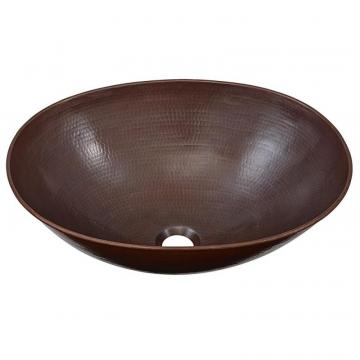 "Sinkology Maxwell 18"" Vessel Sink in Handmade Pure Solid Copper"