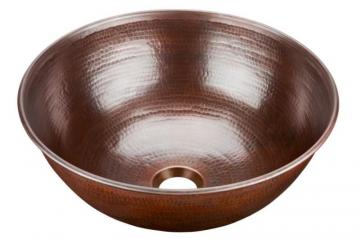 "Sinkology Hubble 14"" Vessel Sink in Pure Solid Copper"
