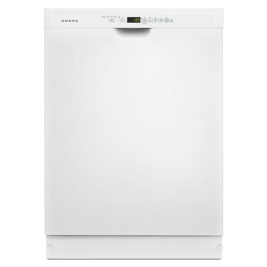 "Amana 24"" Tall Tub Dishwasher with Stainless Steel Interior in White"