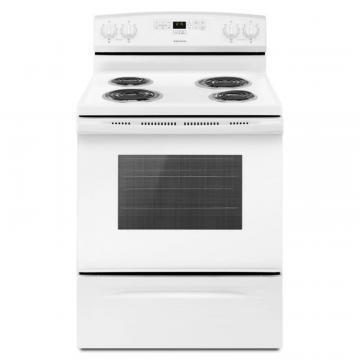"Amana 30"" 4.8 cu. ft. Electric Range with Bake-Assist Presets in White"