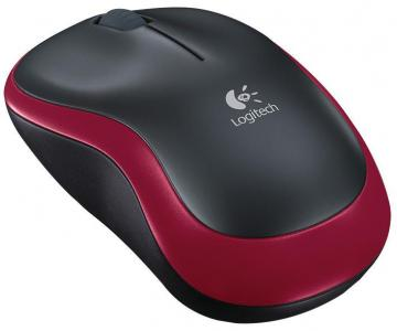 Logitech M185 Wireless Optical Mouse Black/Red