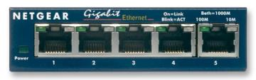 Netgear ProSafe 5-Port Network Switch - Gigabit Ethernet (1000 Mbps)