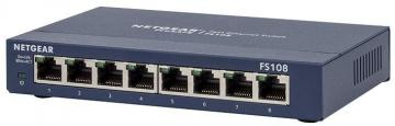 Netgear 8-Port 10/100Mbps Fast Ethernet Switch with Auto Uplink