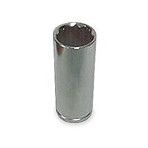 "Westward 15/16"" Chrome Vanadium Socket with 3/8"" Drive Size and Chrome Finish"
