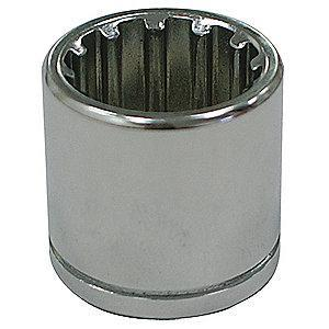 "Westward 8mm Chrome Vanadium Socket with 3/8"" Drive Size and Chrome Finish"