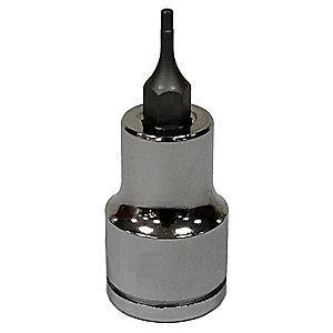 Westward Socket Bit,3/8 in. Dr,1/16 in. Hex