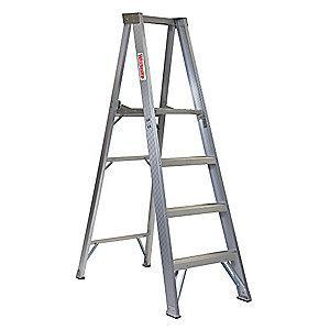 "Westward Aluminum Platform Stepladder, 4 ft. Ladder Height, 3 ft. 10"" Platform Height, 300 lb."