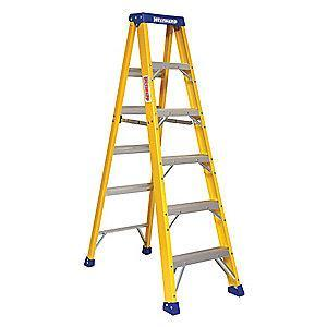 Westward 6 ft. 375 lb. Load Capacity Fiberglass Stepladder
