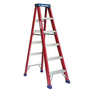 Westward 6 ft. 300 lb. Load Capacity Fiberglass Stepladder