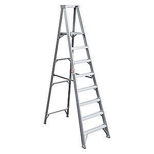 "Westward Aluminum Platform Stepladder, 8 ft. Ladder Height, 7 ft. 7"" Platform Height, 300 lb."
