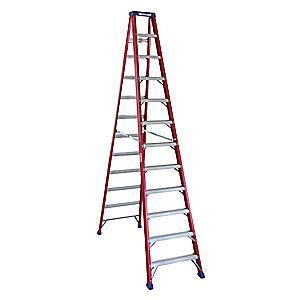 Westward 12 ft. 300 lb. Load Capacity Fiberglass Stepladder