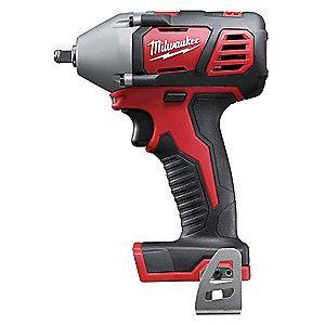 "Milwaukee Tool 3/8"" Cordless Impact Wrench, 18.0V, 167 ft.-lb. Max. Torque, Bare Tool"