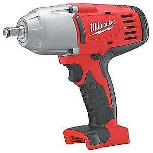 "Milwaukee Tool 1/2"" Cordless Impact Wrench, 18.0V, 450 ft.-lb. Max. Torque, Bare Tool"
