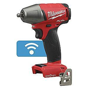 "Milwaukee Tool 3/8"" Cordless Impact Wrench, 18.0V, 210 ft.-lb. Max. Torque, Bare Tool"