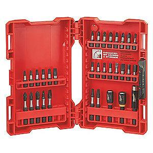 "Milwaukee Tool 32-Piece Screwdriver Bit Set, 1/4"" Hex Shank Size"