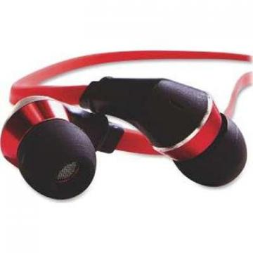 Verbatim Tangle-Free Earphones Red/Black