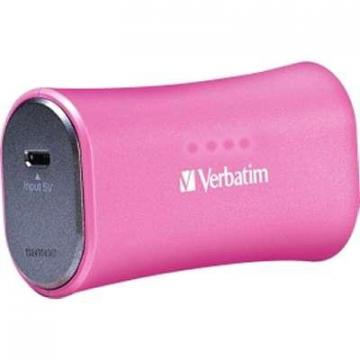 Verbatim 2200mAh Portable Power Pack Pink
