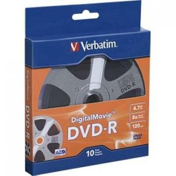 Verbatim 10-pack DVD-R 8x 4.7GB Digital Movie Bulk Retail Box