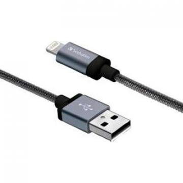 "Verbatim 47"" Sync Charge Lightn Cable Black"