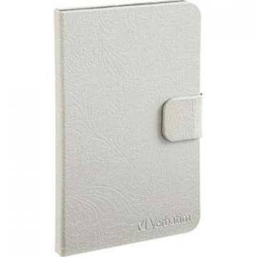 Verbatim Folio Case Pearl White for Kindle Fire