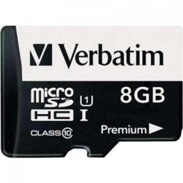 Verbatim 8GB 44081 microSDHC Class 10 Premium Memory Card with Adapter