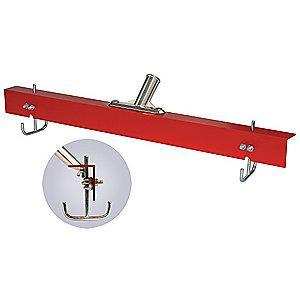 "Tough Guy 24""W Straight Aluminum Floor Squeegee Without Handle, Red"