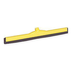 "Tough Guy 24""W Straight Double Foam Rubber Floor Squeegee Without Handle, Yellow"