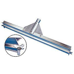 "Tough Guy 24""W Straight Aluminum Floor Squeegee Without Handle, Natural Aluminum"