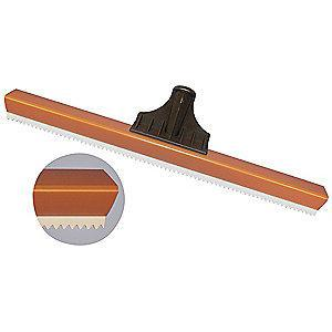 "Tough Guy 18""W Straight Floor Squeegee Without Handle, Brown/White"