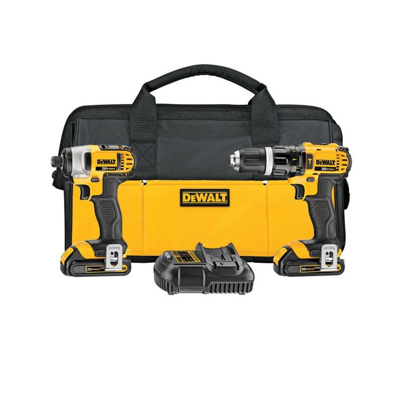DeWalt 20V MAX Li-Ion Compact Hammer Drill and Impact Combo Kit