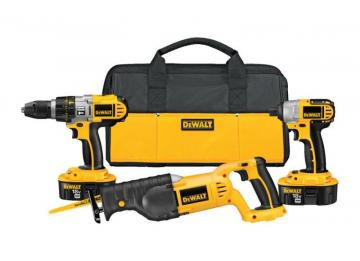 DeWalt 18V XRP Three-Piece Cordless Combo Kit