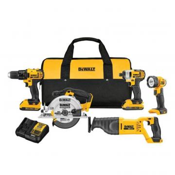 DeWalt 20V MAX Lithium-ion Compact Five-Piece Combo Kit