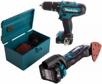 Makita 10.8V Li-Ion 2-Piece Cordless Drill & Multi Tool Kit