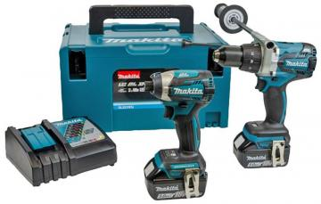 Makita 18V 5.0Ah Li-Ion Cordless Combi Drill & Impact Driver Brushless LXT Twin Pack