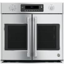 GE Cafe 5.0 cu. ft. French Door Electric Convection Steam Cleaning Single Wall Oven