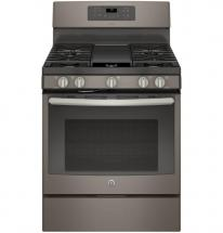 GE 5.0 cu. ft. Free-Standing Convection Self-Cleaning Gas Range in Slate