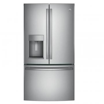 "GE 36"" 25.7 cu. ft. French Door Refrigerator in Stainless Steel"