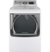 GE Silver On White 7.8 Cu.Feet. Capacity Gas Dryer