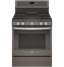 GE 5.6 cu. ft. 30-inch Free-Standing Convection Gas Range Steam Clean in Slate