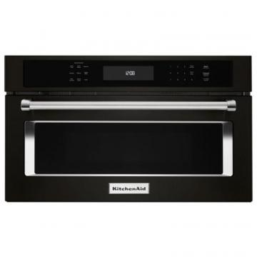 "KitchenAid Black Stainless, 30"" Built In Microwave Oven With Convection Cooking"