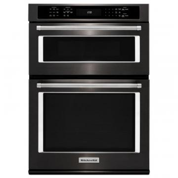 "KitchenAid Black Stainless, 30"" Combination Wall Oven With Even-Heat True Convection"