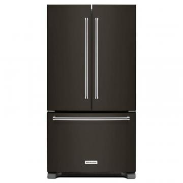 KitchenAid Black Stainless, 25 cu. ft. 36-Width French Door Refrigerator With Interior Dispense
