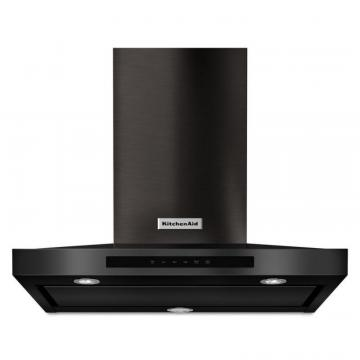 "KitchenAid Black Stainlsess, 30"" Wall-Mount, 3-Speed Canopy Hood"