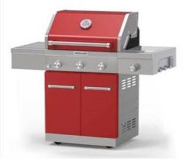 KitchenAid 3 Burner Outdoor Gas Grill With Side Burner